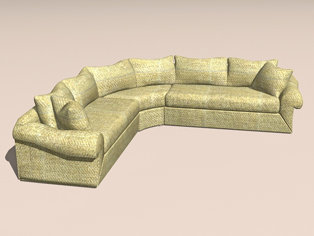 Corner Sectional Sofa 3d Model 3ds Max Autocad Files Free