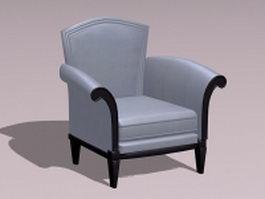 Class armchair 3d model