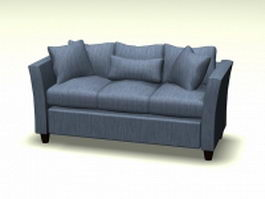Fabric cushion sofa 3d model