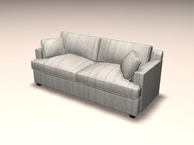 Loveseat Sofa Furniture 3d Model 3ds Max Autocad Files