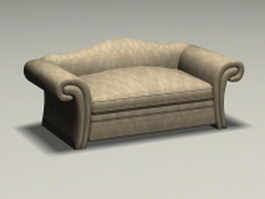 Vintage French loveseat 3d model