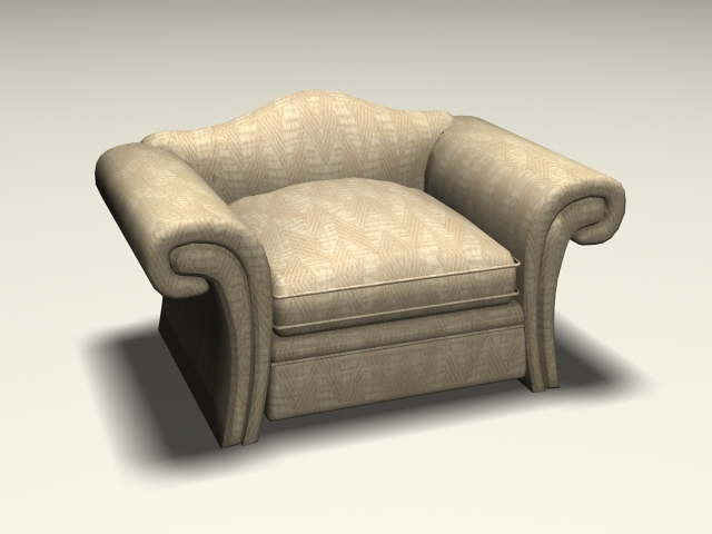 Upholstered Club Chair 3d Model 3ds Max Autocad Files Free