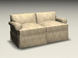 Contemporary loveseat 3d model