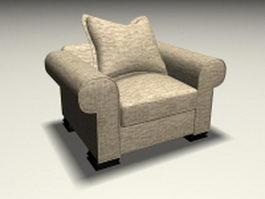 Fabric sofa chair 3d model