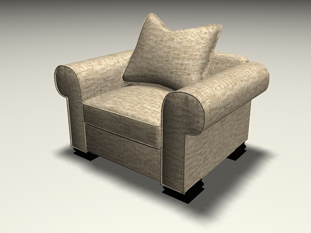 Fabric Sofa Chair 3d Model 3ds Max Autocad Files Free