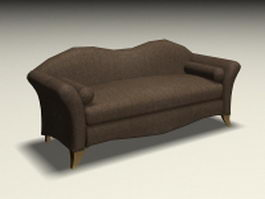 Upholstered sofa settee 3d model