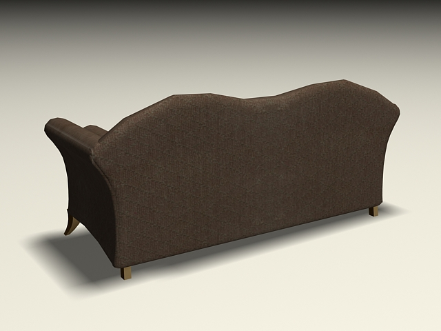 Upholstered Sofa Settee 3d Model 3ds Max Autocad Files