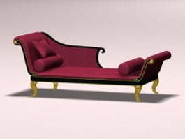 Victorian chaise lounge 3d model