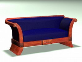Antique loveseat 3d model