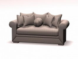 Upholstered sofa loveseat 3d model