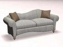 Vintage modern sofa loveseat 3d model