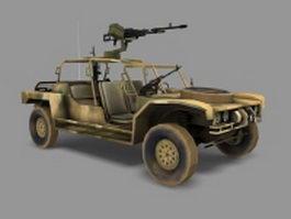 Machine gun armored car 3d model