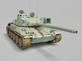 AMX-30 French tank 3d model
