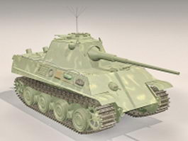 Panzer II German tank 3d model