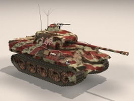 Panzer V Panther tank 3d model