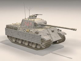 Panzer V German medium tank 3d model