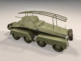 SdKfz 232 armoured car 3d model