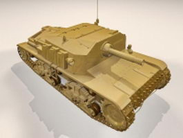 Semovente da self-propelled gun 3d model