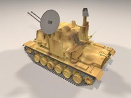 Sergeant York anti-aircraft gun 3d model