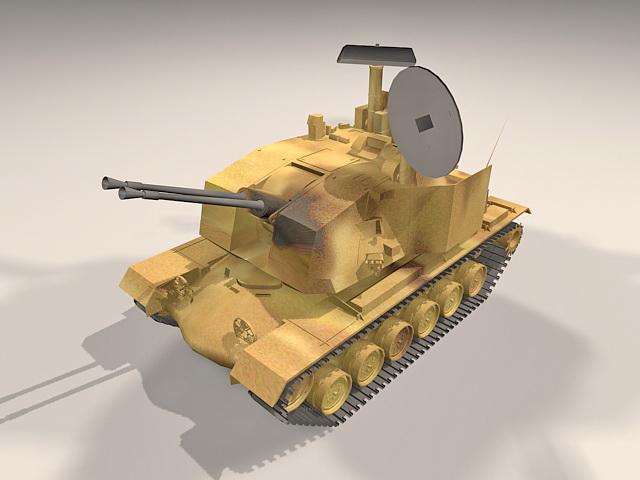 Sergeant York anti-aircraft gun 3d model
