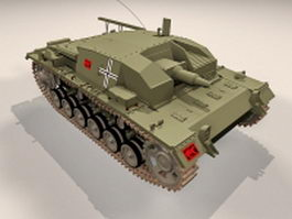 StuG III Ausf armoured fighting vehicle 3d model