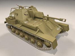 SU-76M Self-propelled gun 3d model
