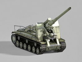 Self-propelled artillery 3d model