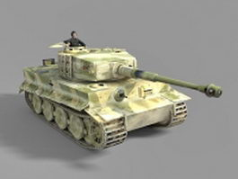 German WW2 tank 3d model