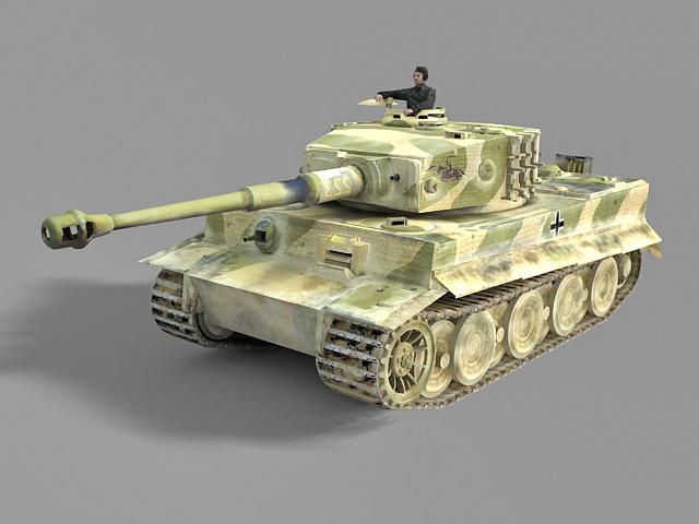 German Ww2 Tank 3d Model 3ds Max Files Free Download
