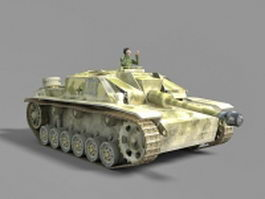 German WWII Panther tank 3d model