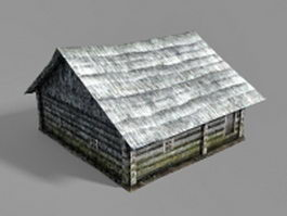 Old country farmhouse 3d model