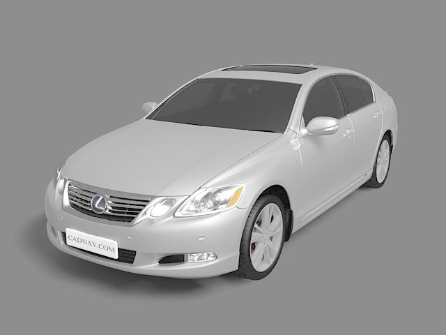 3dSkyHost: Lexus GS executive car 3D Model