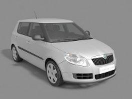 Skoda Fabia hatchback 3d model