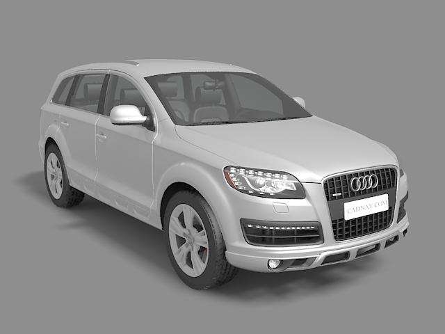 Audi Q7 Suv 3d Model 3ds Max Files Free Download