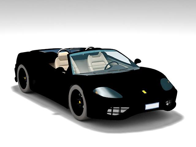 Ferrari 360 Spider 3d rendering