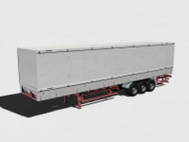 Box trailer 3d model