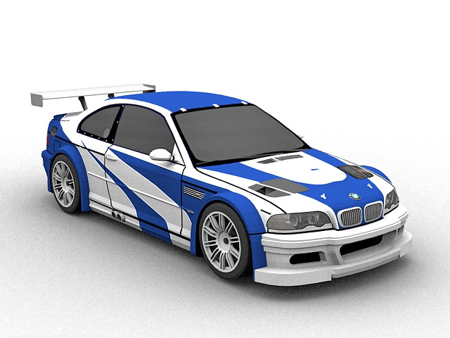 BMW M3 GTR 3d Model 3D Studio3ds Max Files Free Download