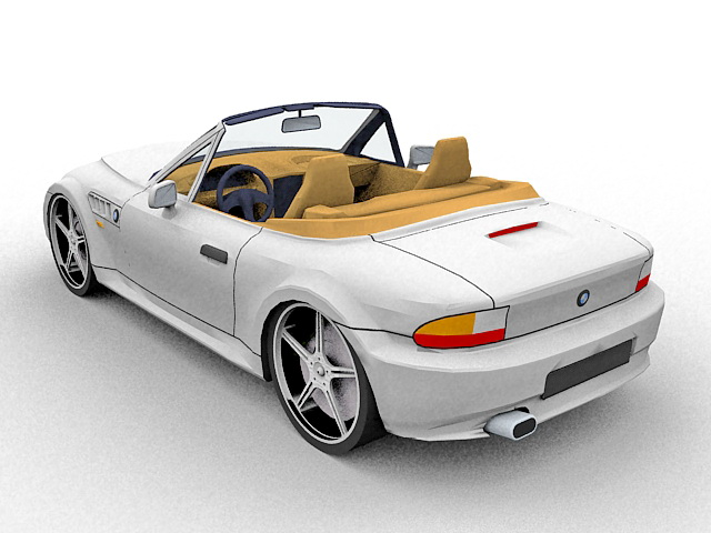 3d car model of bmw z3 m luxury sports car 2 door roadster available 3d file format 3ds 3d studio max autodesk 3ds max bmw z3 luxury roadsters