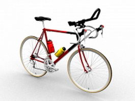 Road racing bike 3d model