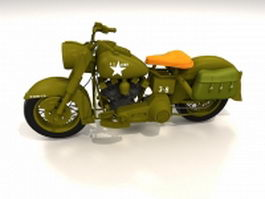 Harley-Davidson army motorcycle 3d model