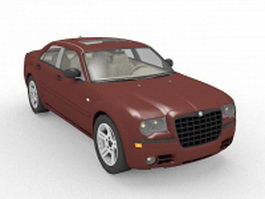 Chrysler 300 luxury sedan 3d model