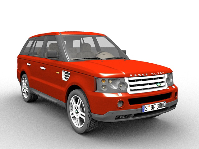 Range Rover Suv 3d Model 3ds Max Files Free Download