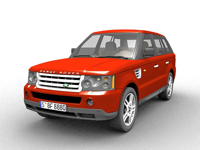Range Rover Suv 3d Model 3ds Max Files Free Download Modeling