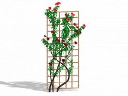 Climbing trellis plants 3d model
