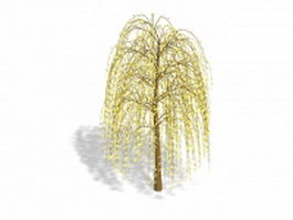 Yellow weeping tree 3d model