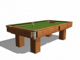 Snooker cue sports equipment 3d model