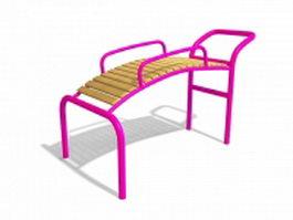 Public playground equipment 3d model