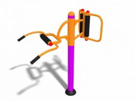 Outdoor fitness equipment 3d model