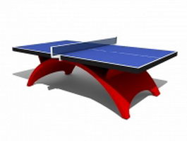 School table tennis equipment 3d model