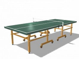 Outdoor ping pong table 3d model